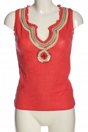Acciaio Knitted Top red-natural white casual look