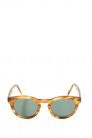 Ace & Tate runde Sonnenbrille hellorange-braun Casual-Look