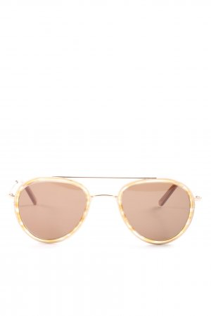 Ace & Tate runde Sonnenbrille bronzefarben-pink Casual-Look