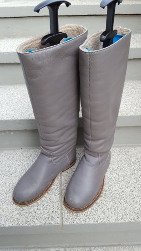 Aces of London Winter Boots grey leather