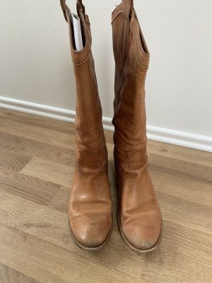 Aces Boots western cognac