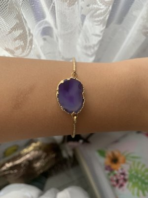 Sztywna bransoletka złoto-niebiesko-fioletowy