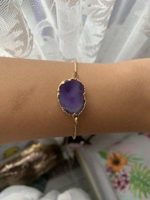 Bracelet de bras doré-bleu violet