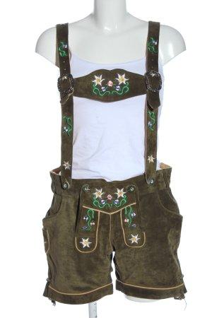 Achim Klein Trachtenmode Pantalón folclórico marrón estilo clásico