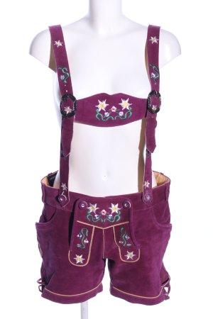 Achim Klein Trachtenmode Pantalon bavarois motif de fleur style classique