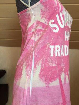 SUPER DRY Koszulka typu batik różowy-różowy