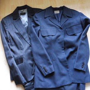 Mango Zakelijk pak wit-donkerblauw Polyester