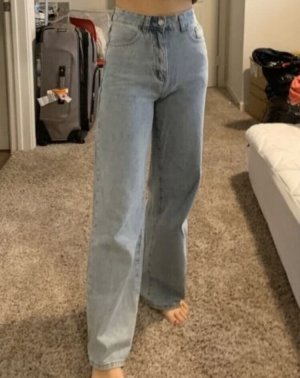 SheIn Workowate jeansy Wielokolorowy