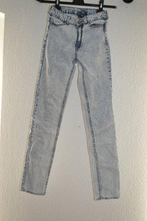 Acid washed Jeans gebleicht 80er 90er High Waist