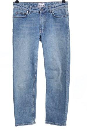 Acne Jeans 7/8 bleu style décontracté