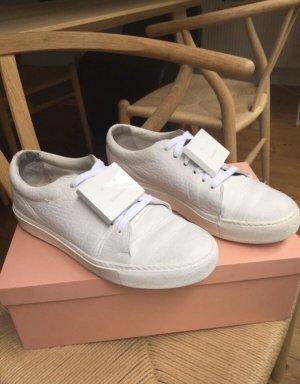 Acne Chaussures à lacets blanc