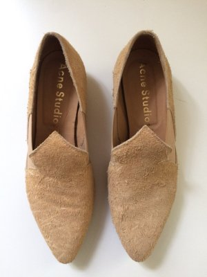 Acne Slip-on Shoes sand brown leather