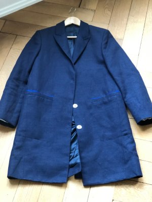Acne Long Blazer blue cotton