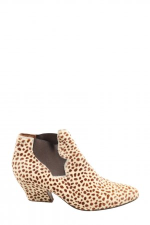 Acne Booties creme-braun Allover-Druck Casual-Look