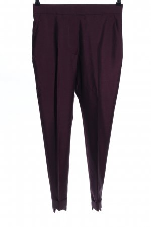 Acne Pantalon à pinces bordeau style d'affaires