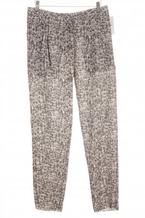 Acne Pleated Trousers black-white abstract pattern business style