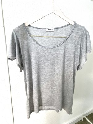 Acne T-shirt gris clair