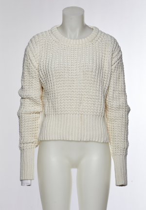 Acne Crochet Sweater white-natural white wool