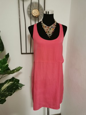 Acne Pinafore dress magenta copper rayon