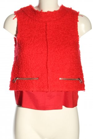 Acne Fine Knitted Cardigan red casual look