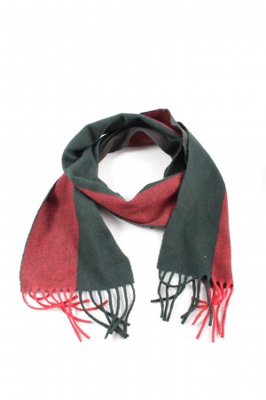 Acne Fringed Scarf khaki-red flecked casual look