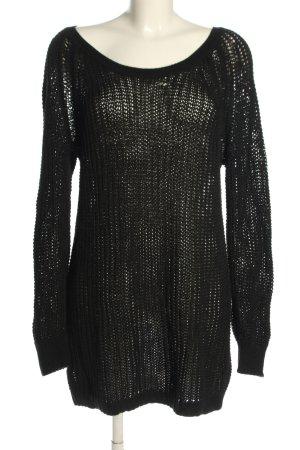 Acne Jersey de ganchillo negro look casual