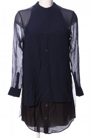 Acne Hemdblusenkleid blau-schwarz Casual-Look