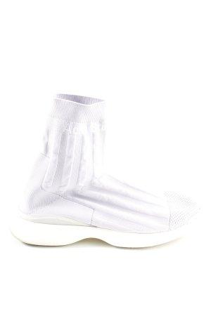 Acne Zapatillas altas blanco estampado a rayas look casual