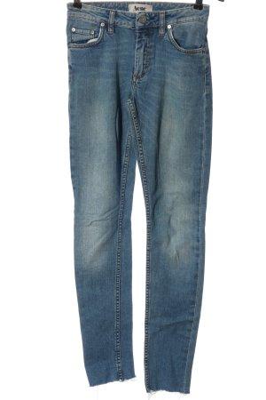 Acne Jeansy z wysokim stanem niebieski W stylu casual