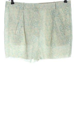 Acne Pantaloncino a vita alta bianco sporco-turchese stile casual