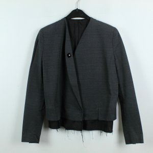 Acne Veste courte gris anthracite