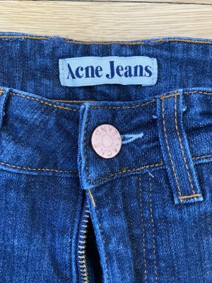 Acne Jeans taille basse bleu