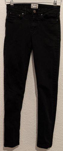 Acne Pantalón de tubo negro