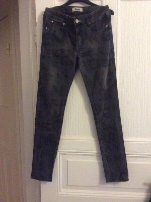 Acne Jeansy z prostymi nogawkami antracyt