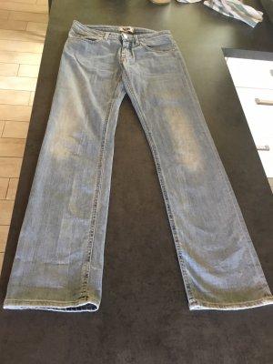 Acne Jeans coupe-droite bleu azur