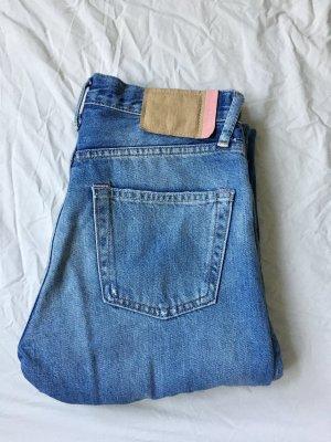 Acne Studios Jeansy z prostymi nogawkami niebieski-błękitny Bawełna