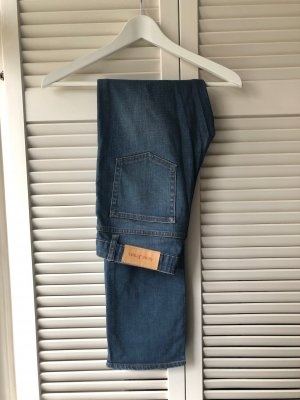 Acne Straight Leg Jeans dark blue cotton