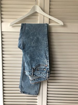 Acne Straight Leg Jeans azure cotton