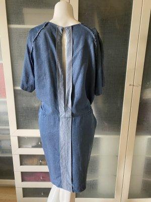 Acne Vestido ceñido de tubo azul acero Seda