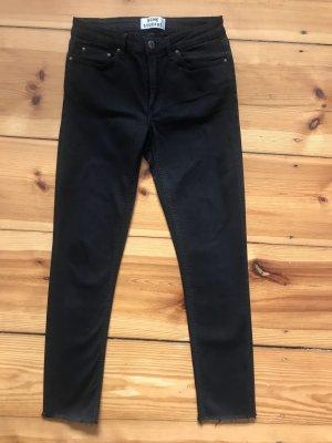 Acne Jeans SKIN 5 black, Gr. 30/34, verkürzt