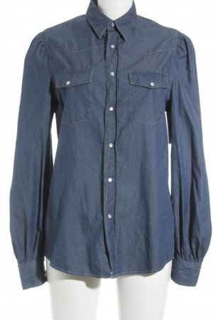 Acne Denim Blouse dark blue casual look