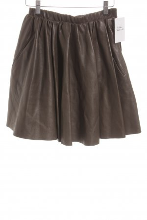 Acne Leather Skirt olive green street-fashion look