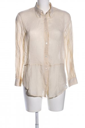 Acne Blusa larga crema estampado a rayas estilo «business»