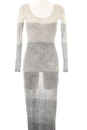 Acne Vestido largo gris claro-crema moteado look casual