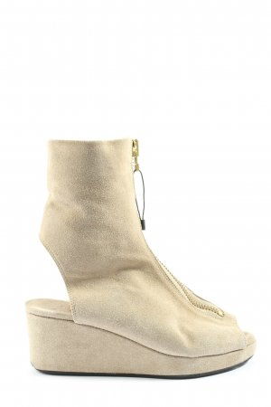 Acne Peep Toe Booties natural white casual look