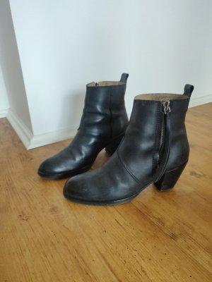 Acne Pistol Boots schwarze Stiefel Ankle Boots Blogger Stiefeletten 40