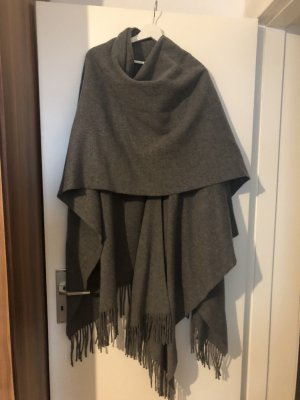 Acne Poncho grijs-donkergrijs Wol