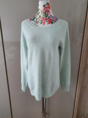 Acne Kraagloze sweater babyblauw-munt