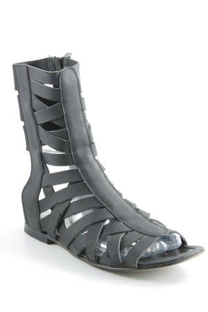 Acne Sandalias romanas negro estilo extravagante