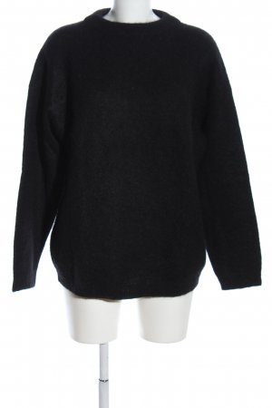 Acne Crewneck Sweater black casual look
